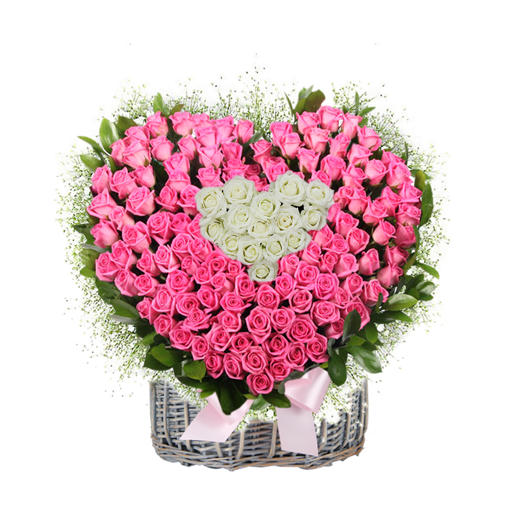 birthday basket flower gift in Seoul