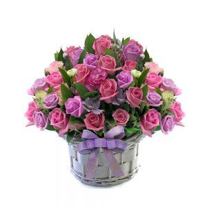 Korea flower basket gift