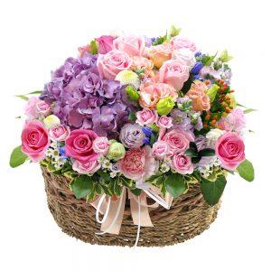 Korea flower basket