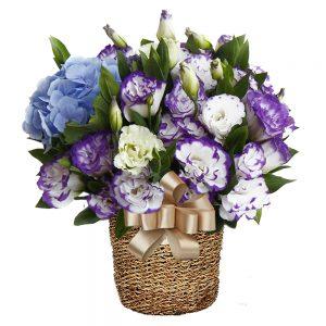 birthday basket flower gift in Seoul Korea
