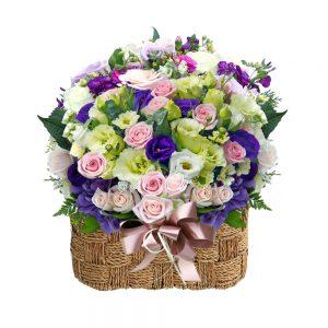 basket flower gift in Seoul Korea