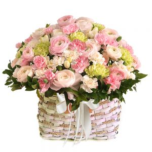 Seoul Korea flower basket gift delivery
