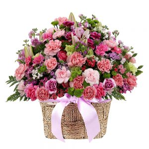 Seoul Korea flower basket gift
