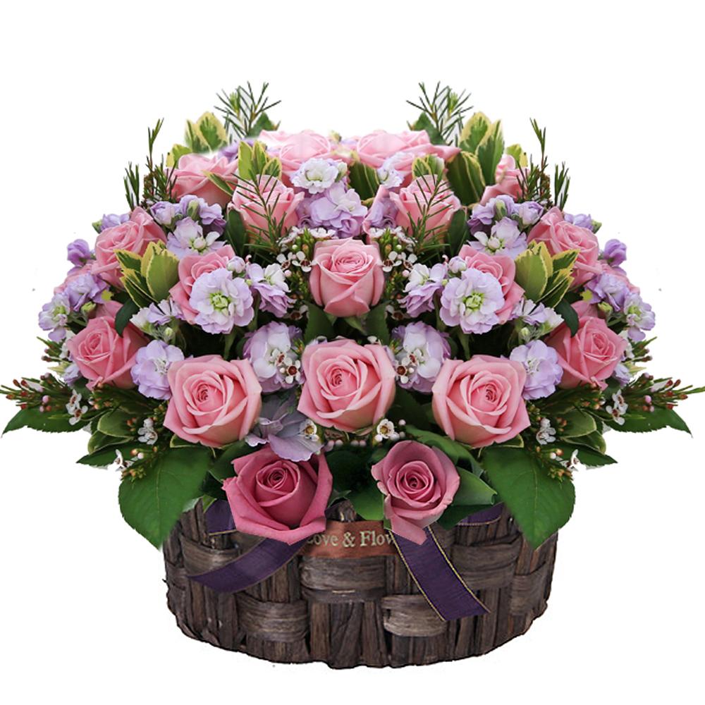 Seoul Korea flower basket delivery