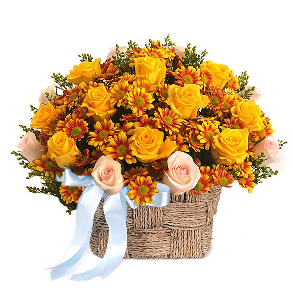 Seoul Korea flower basket