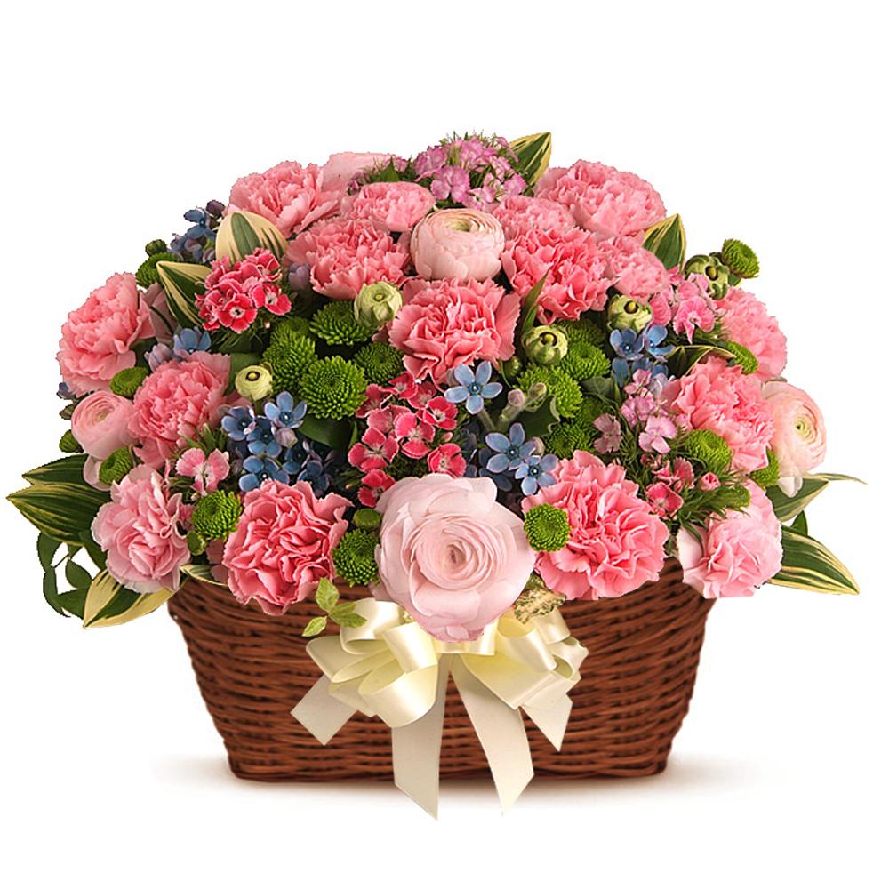 birthday basket flower gift in Korea