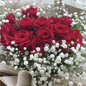 red roses to korea