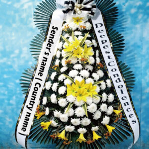 korean funeral flower, wreath, korea funeral flowers