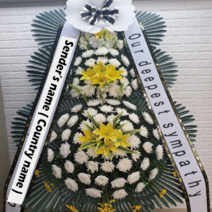korean funeral flower, wreath, korea funeral flowers