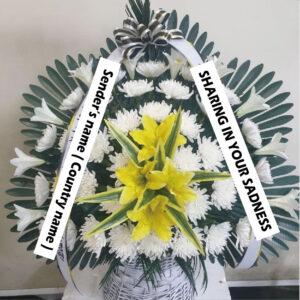 funeral wreath flower basket